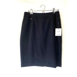 Calvin Klein Navy Pencil Skirt